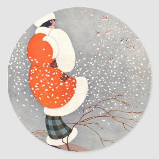 Holiday Glow Classic Round Sticker