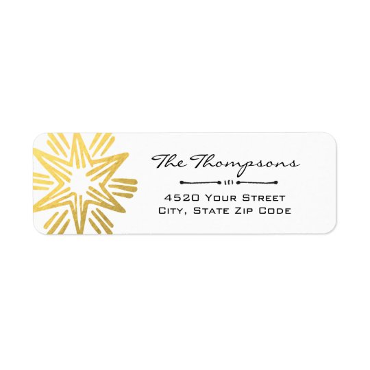 Holiday Gold Star Christmas or New Year's Custom