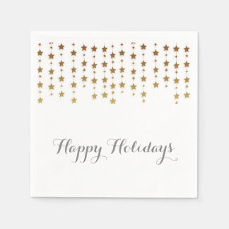 Holiday Gold Stars Disposable Serviettes