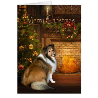 "Holiday ""Grace"" Sheltie Xmas Card"