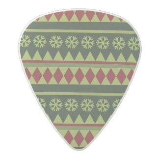 Holiday Green Argyle Pattern Acetal Guitar Pick