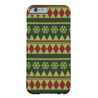 Holiday Green Argyle Pattern Barely There iPhone 6 Case