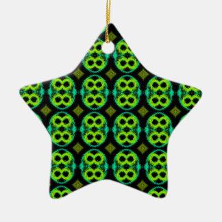 Holiday Green Kiwi-like Ornament