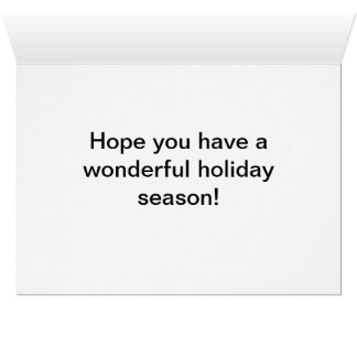 Holiday Greeting Card-snowy winter scene with tree Greeting Card