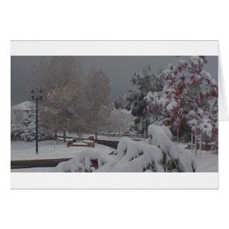 Holiday Greeting Card: Winter Scene II Greeting Card