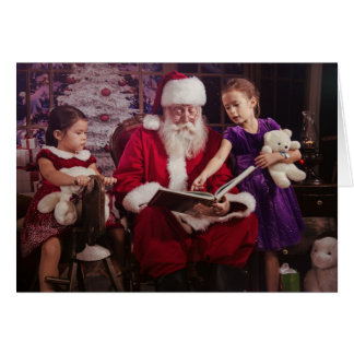 Holiday Greeting Card with Santa Claus