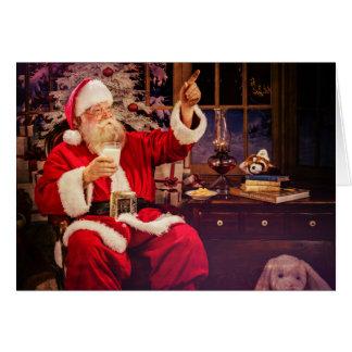 Holiday Greeting Card with Santa Claus
