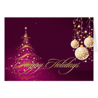 Holiday Greeting Cards Christmas Tree+Ornaments