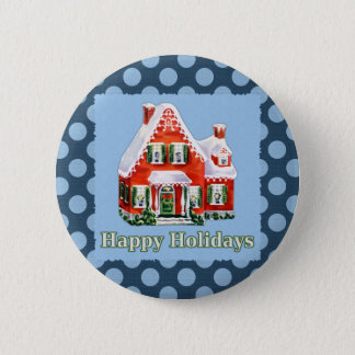 Holiday Greetings 6 Cm Round Badge