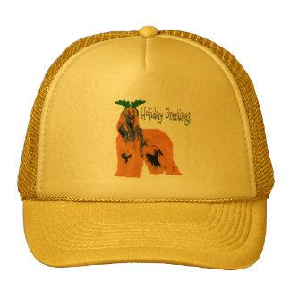 Holiday Greetings Afghan Hound Hat
