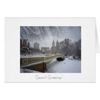 Holiday Greetings - Bow Bridge- Central Park Card