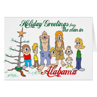 Holiday Greetings from Alabama Cards