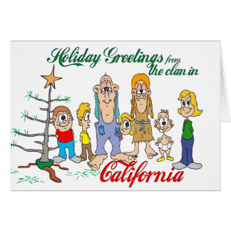 Holiday Greetings from California Greeting Cards