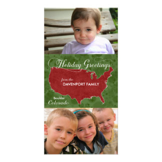 Holiday Greetings from Colorado - Photo, Name Picture Card