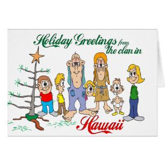Holiday Greetings from Hawaii Greeting Card