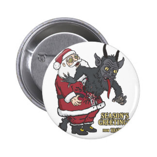 Holiday Greetings from Krampus (and Santa) Buttons