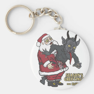 Holiday Greetings from Krampus (and Santa) Key Chains