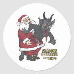 Holiday Greetings from Krampus (and Santa) Sticker