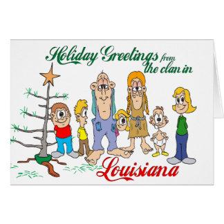 Holiday Greetings from Louisiana Greeting Card