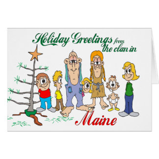 Holiday Greetings from Maine Greeting Cards