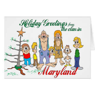 Holiday Greetings from Maryland Greeting Card