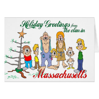 Holiday Greetings from Massachusetts Greeting Card