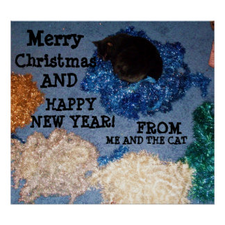HOLIDAY GREETINGS, FROM ME AND THE CAT poster