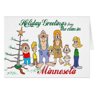 Holiday Greetings from Minnesota Greeting Cards