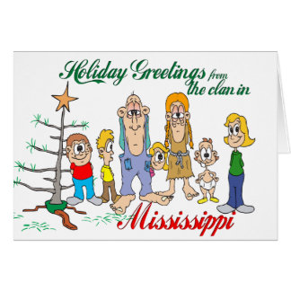 Holiday Greetings from Mississippi Greeting Cards