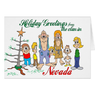 Holiday Greetings from Nevada Greeting Card