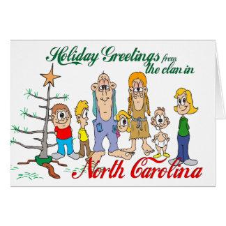Holiday Greetings from North Carolina Cards