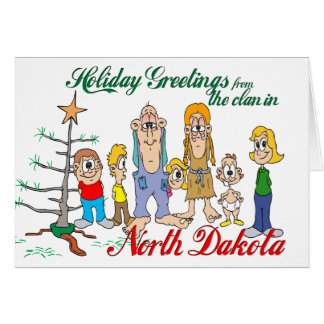 Holiday Greetings from North Dakota Cards