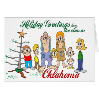 Holiday Greetings from Oklahoma Greeting Card