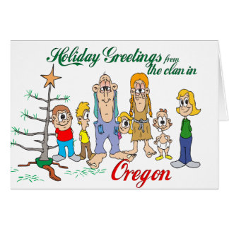 Holiday Greetings from Oregon Card