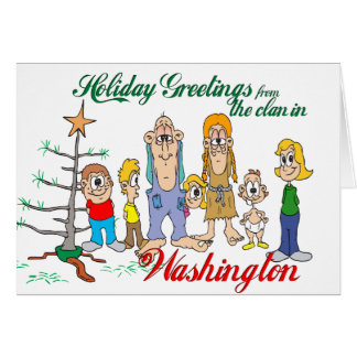 Holiday Greetings from Washington Card