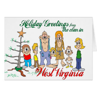 Holiday Greetings from West Virginia Greeting Card