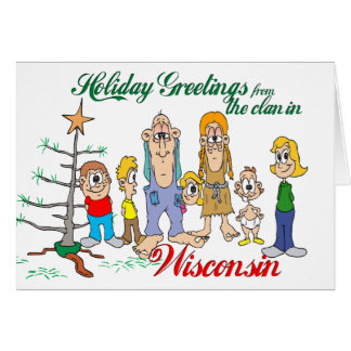 Holiday Greetings from Wisconsin Greeting Card