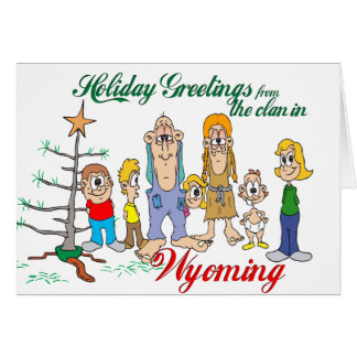 Holiday Greetings from (Your State) Greeting Card