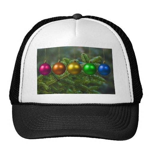 holiday greetings mesh hats