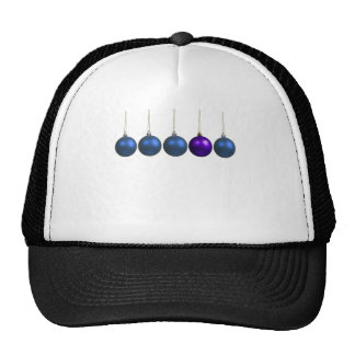 holiday greetings mesh hat
