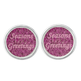 Holiday Greetings In Pink Cufflinks
