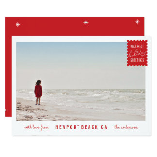 Holiday Greetings Photo Card 13 Cm X 18 Cm Invitation Card