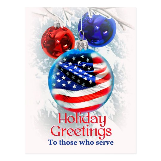 Holiday Greetings to Military Troops, Christmas Postcard