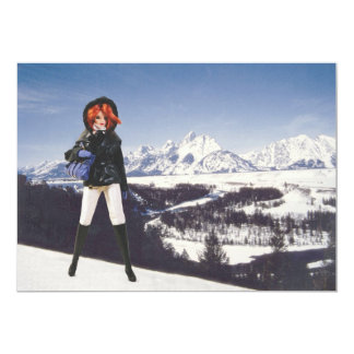 Holiday Greetings, Verdi at Snake River Overlook 5x7 Paper Invitation Card