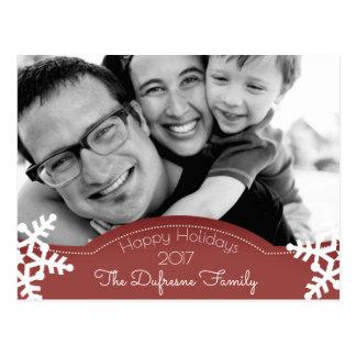 Holiday Greetings w/Photo Postcard