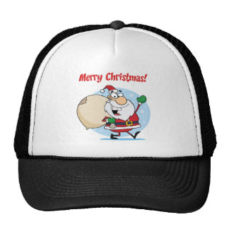 Holiday Greetings With Santa Claus Mesh Hat