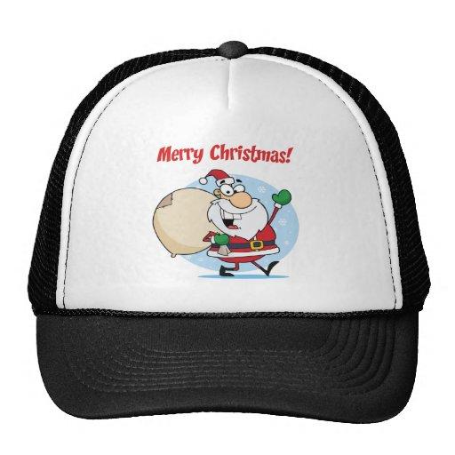Holiday Greetings With Santa Claus Mesh Hat