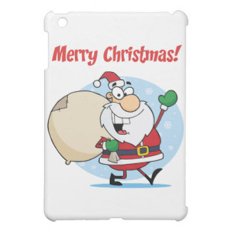 Holiday Greetings With Santa Claus iPad Mini Covers