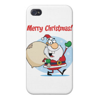 Holiday Greetings With Santa Claus iPhone 4 Cover