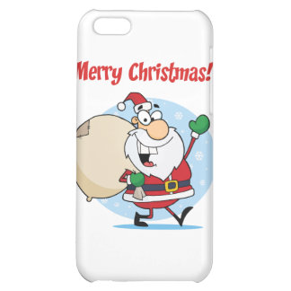 Holiday Greetings With Santa Claus Cover For iPhone 5C
